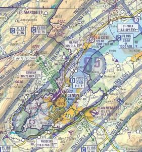 ICAO-Karte von Genf Flughafen