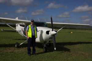 Erster Flug in Australien in einer C172